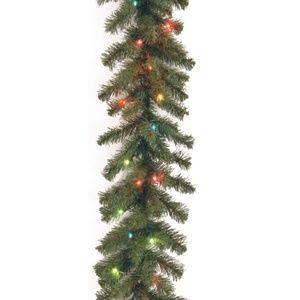 "NEW National Tree 9' 10"" 50 Light Spruce Garland"